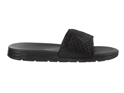 Nike Uomo Benassi Solarsoft Slide Sandalo Nero Antracite