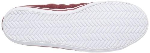 K-Swiss Hof IV MID SDE VNZ - Zapatillas de caña alta de cuero hombre rojo - Rot (Merlot/White)
