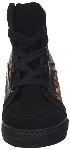 Vans U Sk8-hi Wedge (Leopard) Black, Unisex Adults' Trainers Black