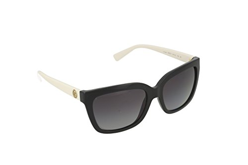 Michael Kors SANDESTIN MK6016 Sunglasses 3052T3-54 - Black/White Frame, Grey Gradient - And Kors Michael White Black