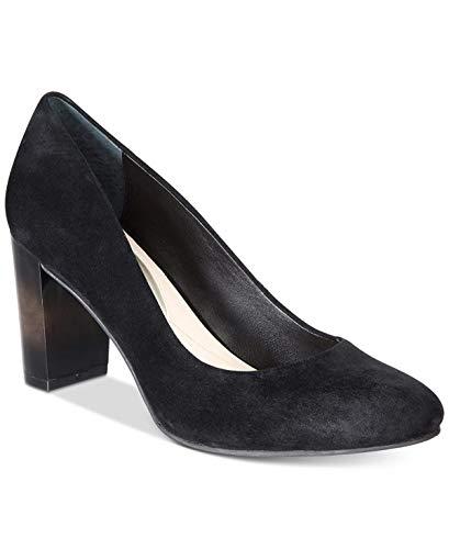 Alfani Womens Morgaan Leather Closed Toe Classic Pumps, Black, Size 6.5