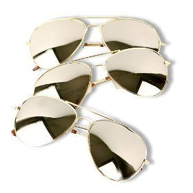 c0bc0c502dd Amazon.com  3 Pack of Aviator Sunglasses Gold Frame Mirror Lens with Pouches   Shoes