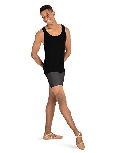 Body Wrappers Boys Dance Shorts,B192BLKM,Black,Medium -