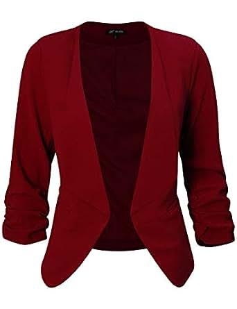 Amazon.com: Michel chaqueta de trabajo asimétrica con frente ...
