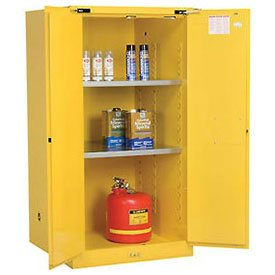Justrite 896020 Sure-Grip EX Flammable Safety Cabinet, 2 Door, Self Closing, Dimensions (H x W x D): 65 x 34 x 34 inch (1651x 864 x 864 mm); 60 gal. (227L)