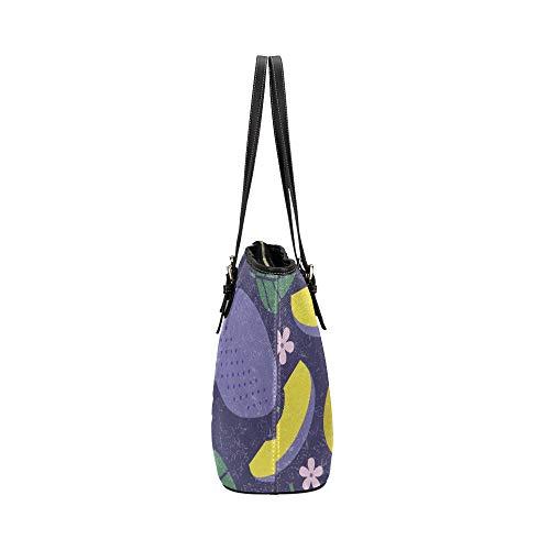 Handväska med topphandtag tecknad söt sura söta mellanmål plommon läder handväskor väska orsaksala handväskor dragkedja axelorganiserare för kvinnor flickor kvinnor väskor kvinnor