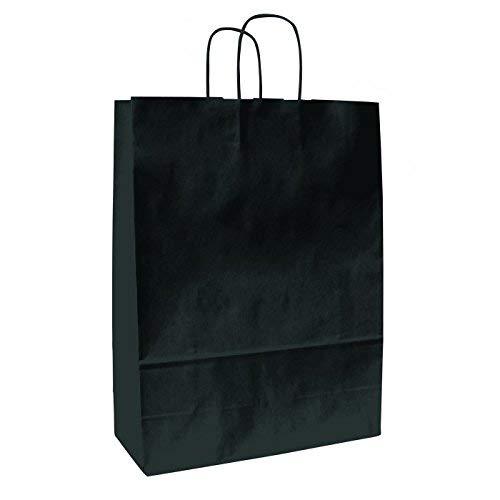 shoppers 16x21 cm Busta Carta Kraft Nera Classica 25 pezzi