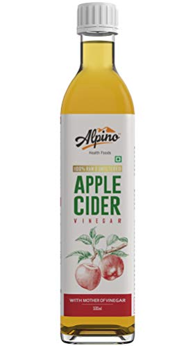 Alpino Organic Apple Cider Vinegar 500 ML | 100% Raw, Unfiltered & Unpasteurized | with Mother of Vinegar | Helps in Weight Loss | Naturally Rich in Antioxidants | Contains No Added Flavours or Preservatives