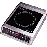 Tarrison CI-18-1 Heavy Duty Stainless Steel Free Standing Counter Top 13 Induction Range, 120V, 1,500W, 12 Amps