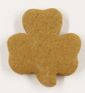 Scott's Cakes Undecorated 2.5'' Shamrock Gingerbread Cookies