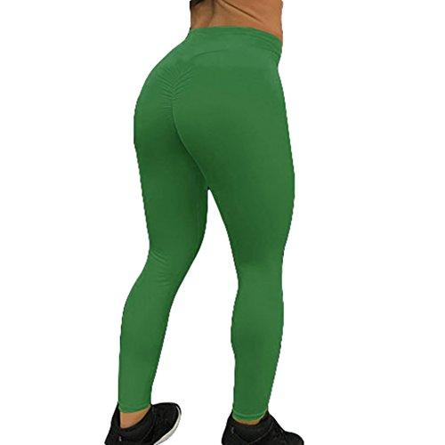 Yoga Solido Verde Vita Donna Yying Fitness Leggins Elastici Colore Push Pantaloni Jogging Alta Sportivi Up Tights Donne Leggings nqwpqXP
