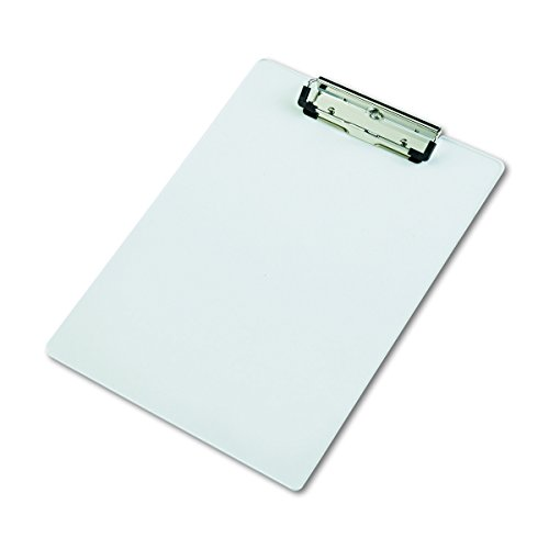 Saunders Acrylic Clipboard, Letter Size 8.5 x 12 Inches, Clear (21565) (Acrylic Clipboard Clear)
