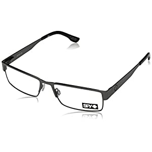 Spy Elijah Rectangular Eyeglasses,Gunmetal,55 mm