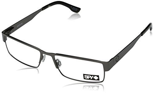 Spy Elijah Rectangular Eyeglasses,Gunmetal,55 mm