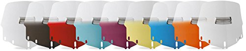 Memphis Shades Gold Wing 1500 Tall Vented Windshield - Gradient Ruby (Tall Windshield Vented)