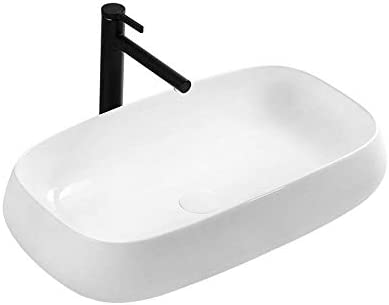 パーソナリティクリエイティブアート洗面台 北欧の楕円形の白い磁器流域浴室キャビネット洗面化粧台のキャビネット (Color : White, Size : 71.5x41x15cm)