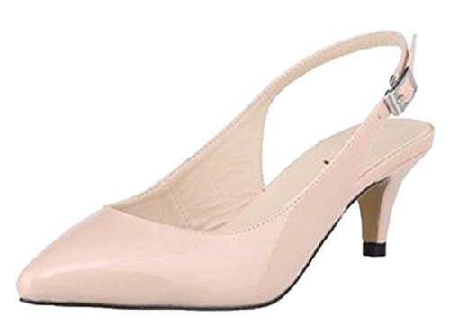 Nude Toe Kitten Women's Pointed HooH Dress Sandals Slingback a0qSnRcU