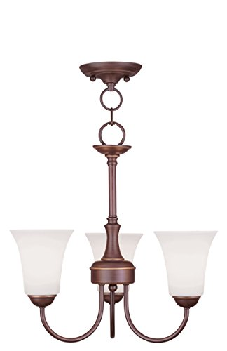 Livex Lighting 6463-70 Ridgedale 3 Light Convertible Chain Hang/Ceiling Mount, Vintage Bronze