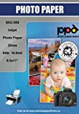PPD Inkjet Glossy Heavyweight Photo Paper LTR 8.5x11'' 64lbs 240gsm 10.9mil X 100 Sheets (PPD008-100)