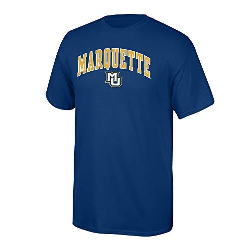 (Elite Fan Marquette Golden Eagles Men's Short Sleeve Arch Tee, Navy, X Large )