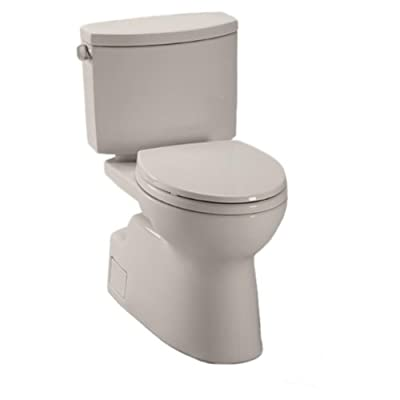 Toto CST474CEFGNo.12 Vespin II Two-Piece High-Efficiency Toilet, with SanaGloss, 1.28-GPF, Sedona Beige