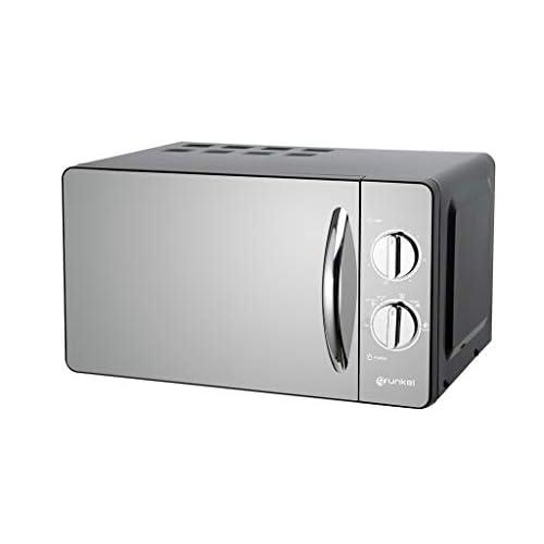 Grunkel - MW-20ESP - Microondas de 20l de capacidad con acabado en espejo y 6 niveles de potencia. Función descongelación y temporizador hasta 30 minutos - 700W - Negro espejo a buen precio