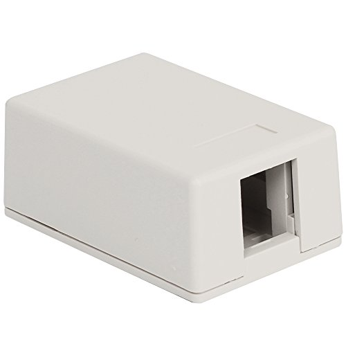 SURFACE MOUNT BOX 1-PORT 25PK WH