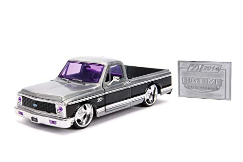 JADA Toys 20TH Anniversary- Big TIME KUSTOMS - '72 Chevy Cheyenne DIE CAST 1:24 Scale Bare Metal from Jada
