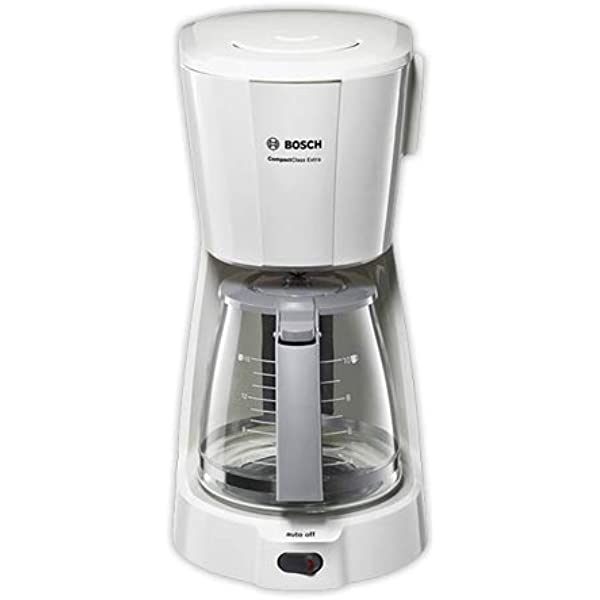Bosch CompactClass TKA3A031 - Cafetera de goteo, para 10 o 15 tazas, color blanco: Amazon.es: Hogar