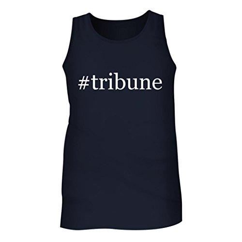 Tribune   Mens Hashtag Adult Tank Top  Navy  Medium