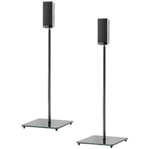 EL0 AUDIOPHILE SPEAKER STANDS (BLACK)- PAIR (Catalog Category: FURNITURE / A/V MOUNTS, FURNITURE & STORAGE)