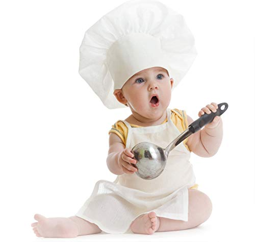 Chefskin Kids Children Chef Set : 1 Chef Jacket + 1 Chef Hat + 1 Chef Apron White (Baby (Fits 8-36 Mos.))