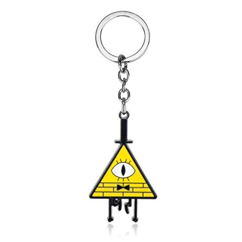 Gravity Falls Mysteries Bill Cipher Wheel Party Time Keychain Keyring Mabel Stanley Cartoon Shape Pendant Key Chain