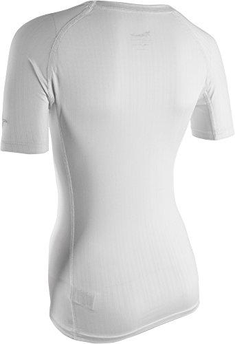 silvini Mujer basale Cool Ropa Interior de Manga Corta Camiseta de blanco