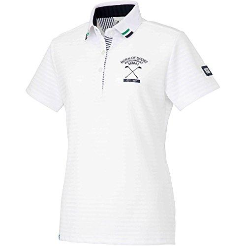 アディダス Adidas 半袖シャツ?ポロシャツ ADICROSS エンブレム 半袖ポロシャツ レディス ホワイト S