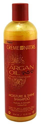 CREME OF NATURE Argan Oil Moisture Shine Shampoo & Intensive Treatment Set, 12 oz -