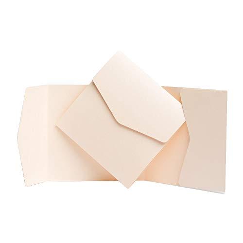Peach Pocketfold invita 150mm x 150mm da biglietti d' invito Ltd Pocketfold Invites