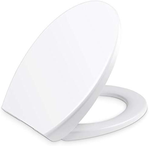 Yissvic WC Sitz Klodeckel O Form Toilettendeckel Quick-Release-Funktion Deckel Kunststoff Abnehmbar Absenkautomatik Weiß (Verpackung MEHRWEG)