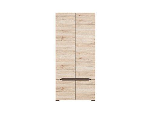 Bedroom Oak Armoire (ContempStyle S314-SZF4D-Dsaj.Dwb Elpasso Wardrobe Storage Closet, San Remo Oak)