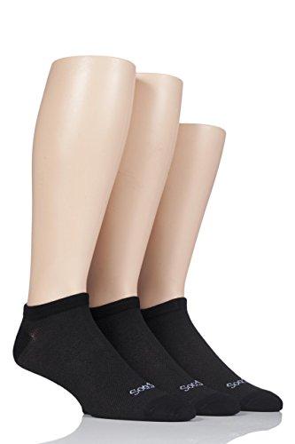 Trainer Liner Socks - Mens 3 Pair SockShop Bamboo Mesh Trainer Liner Socks - Black 8-12