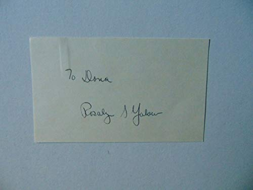 """""""Nobel Prize in Medicine"""" Rosalyn Yalow Hand Signed 3X5 Card Todd Mueller COA from Unknown"""