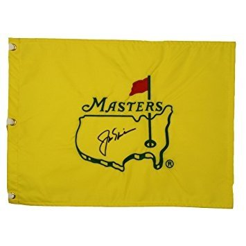 Jack Nicklaus Autographed Undated Masters Pin Flag - PSA/DNA Full Letter