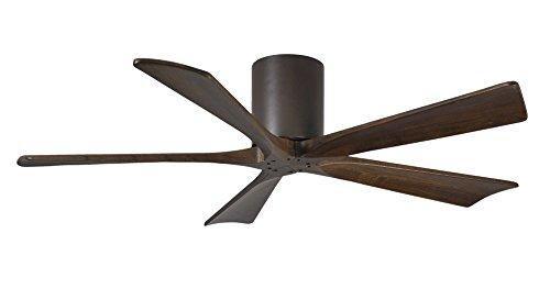 Atlas-CASA-Bruno-Irene-Hugger-DC-Deckenventilator--132-cm-Bronze-Dunkel-5-walnussfarbene-Flgel-aus-Holz