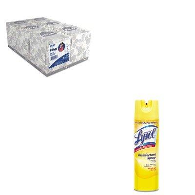KITKIM21271RAC04650EA - Value Kit - Professional LYSOL Brand Pro Disinfectant Spray (RAC04650EA) and KIMBERLY CLARK KLEENEX White Facial Tissue (KIM21271)