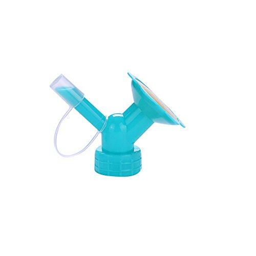Irene Watering Cans Sprinkler 2In1 Plastic Sprinkler Nozzle For Flower Waterers Bottle (Blue)