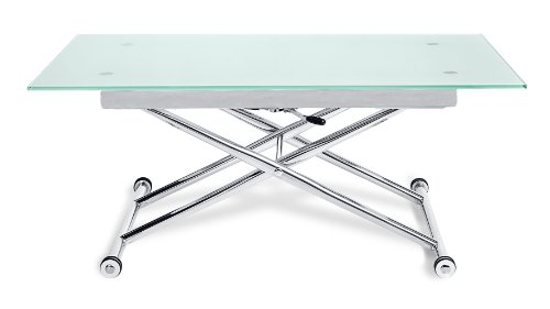 alto adjustable height glass dining or coffee table amazoncouk kitchen u0026 home