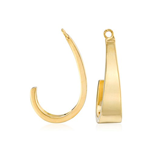 Ross-Simons 14kt Yellow Gold J-Hoop Earring Jackets for sale  Delivered anywhere in USA