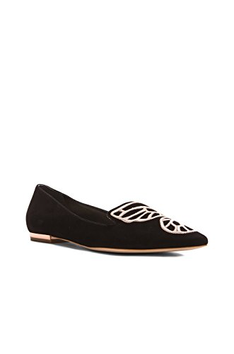 Sophia Webster Black Rose Gold Butterfly Flats 40 by SOPHIA WEBSTER