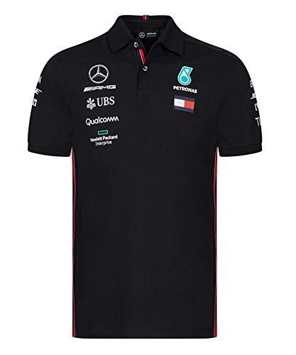 【希望者のみラッピング無料】 [ レプリカ Team Mercedes AMG B07QK7W654 ] メルセデス AMG ペトロナス F1 Team 2019 オフィシャル レプリカ ポロシャツ B07QK7W654 XL身幅60cm着丈78cm|ブラック ブラック XL身幅60cm着丈78cm, クイチョウ:b0f2933b --- test.ips.pl