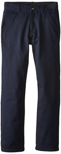 Nautica Big Boys' Uniform Stretch Skater Twill Pant, Navy, 10